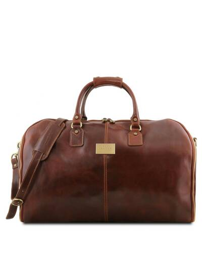 Tuscany Leather Antigua - Travel leather duffle/Garment bag Brown - TL141538/1