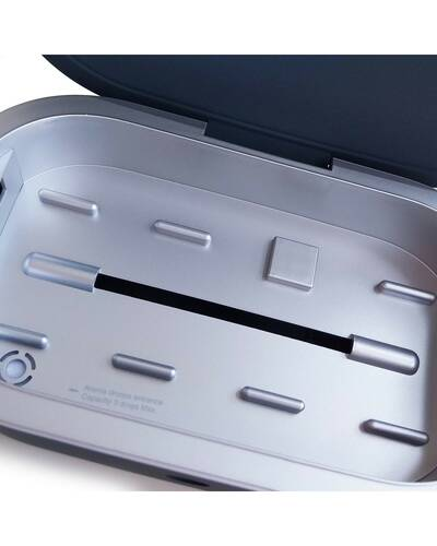 Piquadro Re Start UVC sterilizer with wireless charging, Grey - AC5466RS/G