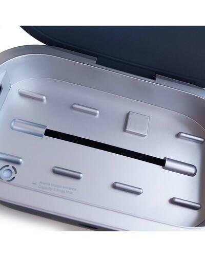 Piquadro Re Start Sterilizzatore UVC con ricarica wireless, Grigio - AC5466RS/G