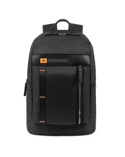 Piquadro PQ-Bios Computer backpack in regenerated nylon, Black - CA4545BIO/N