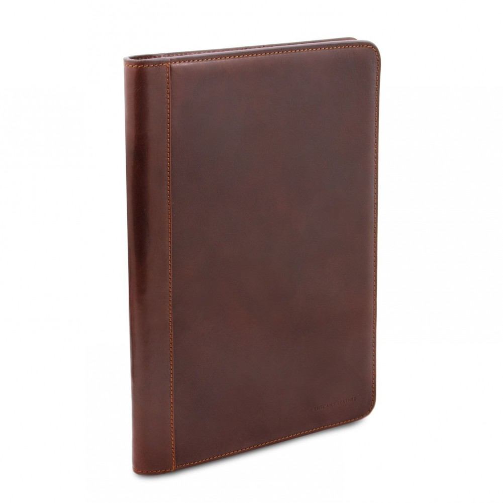 Tuscany Leather - Lucio - Exclusive leather document case with ring binder Honey - TL141293/3