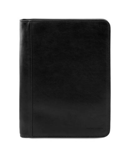 Tuscany Leather - Lucio - Exclusive leather document case with ring binder Black - TL141293/2