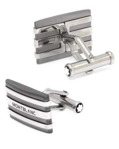 Montblanc Meisterstück Cufflinks in stainless steel and tantalum - MB101535