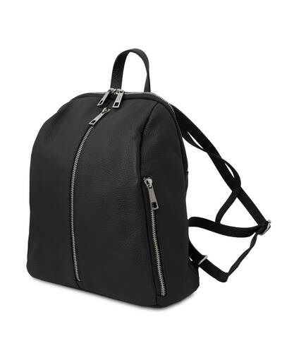 Tuscany Leather TL Bag - Soft leather backpack for women Black - TL141982/2