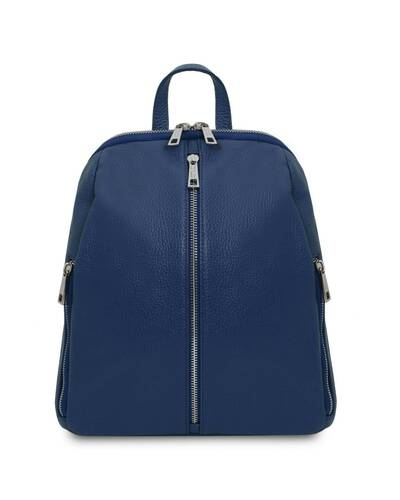 Tuscany Leather TL Bag - Soft leather backpack for women Dark Blue - TL141982/107