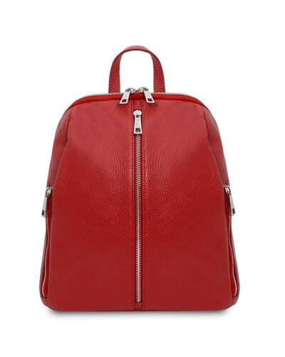 Tuscany Leather TL Bag - Soft leather backpack for women Lipstick Red - TL141982/120