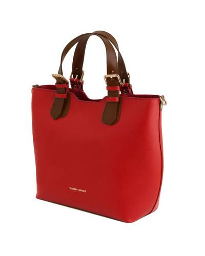 Tuscany Leather TL Bag Saffiano leather handbag Lipstick Red - TL141696/120