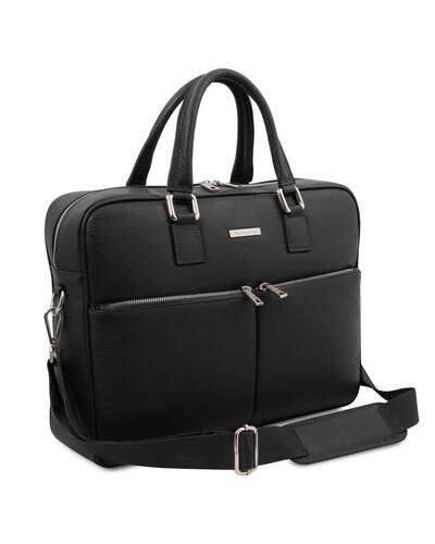 Tuscany Leather - Treviso - Leather laptop briefcase Black - TL141986/2