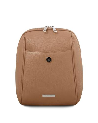 Tuscany Leather TLBag Soft Leather Backpack Taupe - TL141905/129