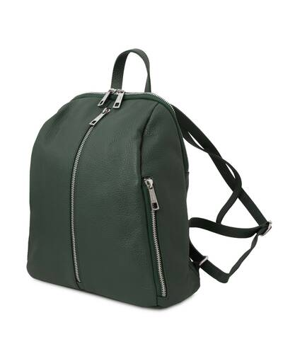 Tuscany Leather TL Bag - Soft leather backpack for women Forest Green - TL141982/62