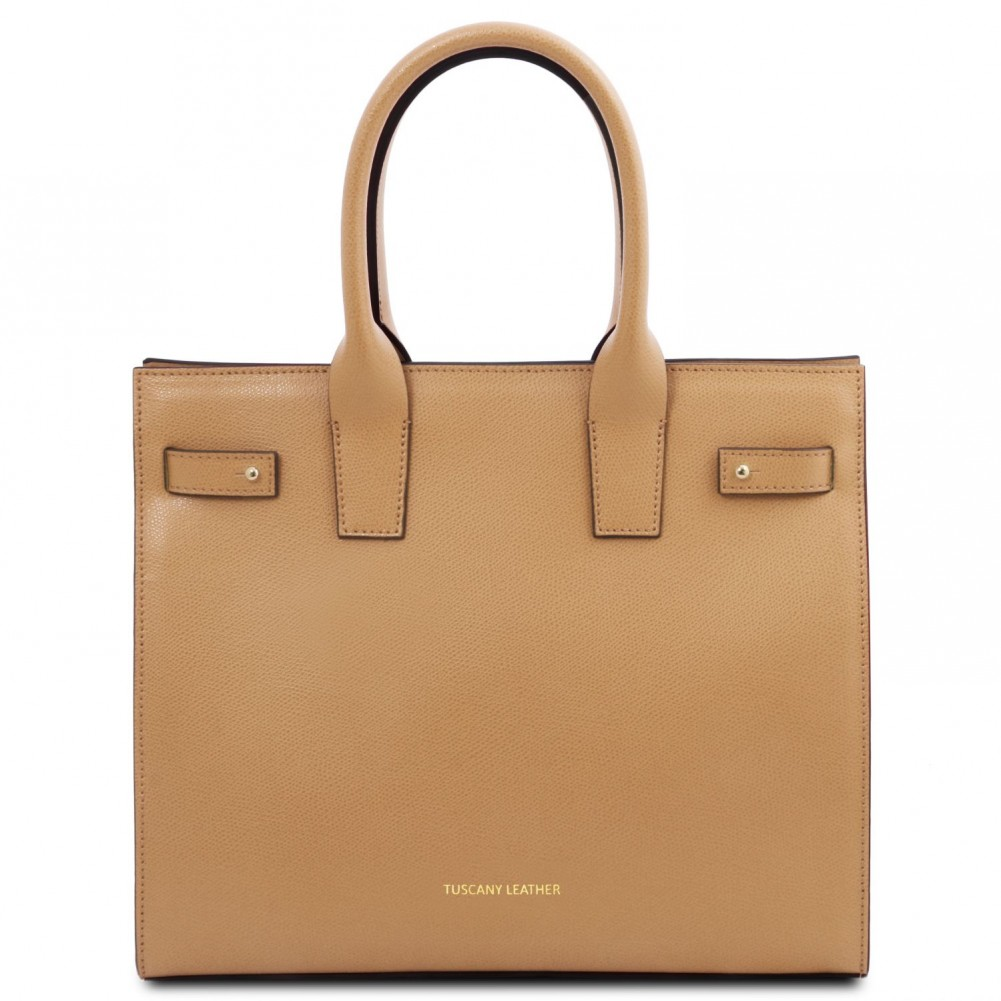 Tuscany Leather - Catherine - Borsa a mano in pelle Champagne - TL141933/126
