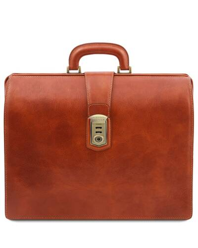 Tuscany Leather Canova Leather Doctor bag briefcase 3 compartments Honey - TL141826/3