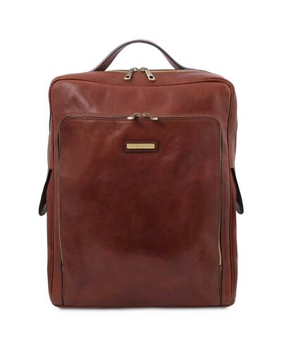 Tuscany Leather Bangkok Leather laptop backpack - Large size, Brown - TL141987/1
