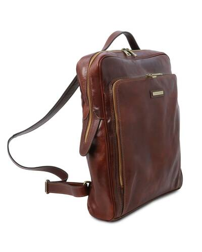 Tuscany Leather Bangkok Zaino porta notebook in pelle - Misura Grande, Marrone - TL141987/1