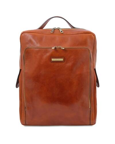 Tuscany Leather Bangkok Zaino porta notebook in pelle - Misura Grande, Miele - TL141987/3