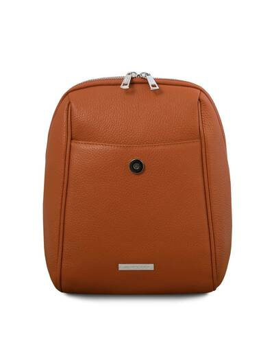 Tuscany Leather TLBag Zaino in pelle morbida Cognac - TL141905/6