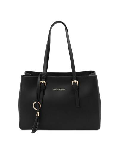 Tuscany Leather TL Bag Borsa a spalla in pelle Nero - TL142037/2