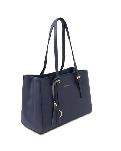 Tuscany Leather TL Bag Borsa a spalla in pelle Blu Scuro - TL142037/107