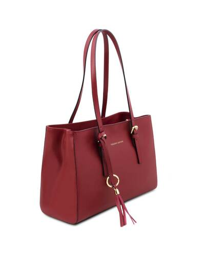 Tuscany Leather TL Bag Borsa a spalla in pelle Rosso - TL142037/4