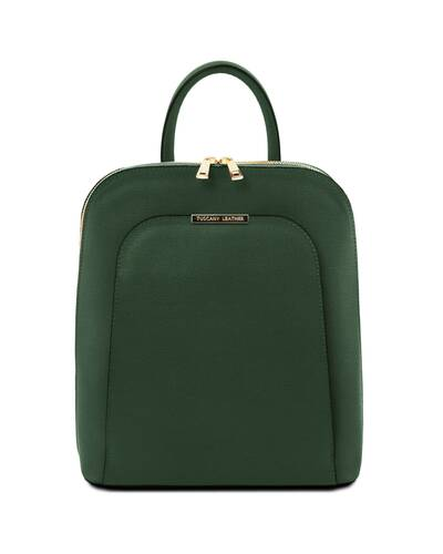 Tuscany Leather TL Bag - Zaino donna in pelle Saffiano Verde Foresta - TL141631/62