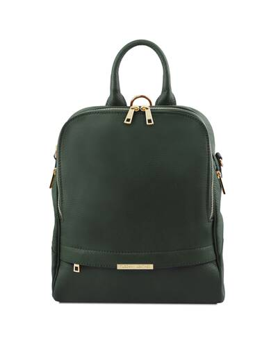 Tuscany Leather TL Bag - Zaino donna in pelle morbida Verde Foresta - TL141376/62