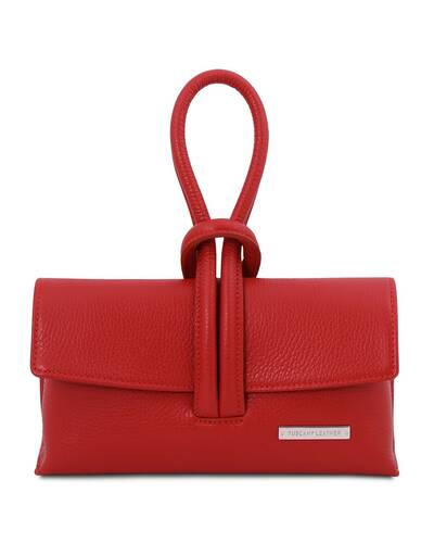 Tuscany Leather TL Bag Pochette in pelle Rosso Lipstick - TL141990/120