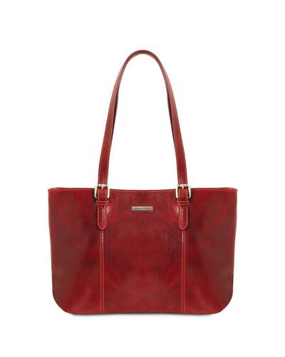 Tuscany Leather Annalisa Leather shopping bag with two handles Red - TL141710/4