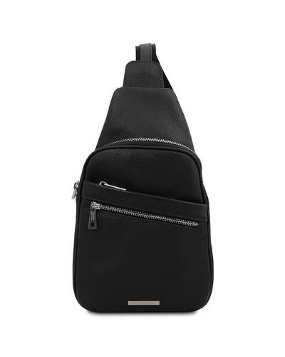 Tuscany Leather ALBERT Soft leather crossover bag Black - TL142022/2