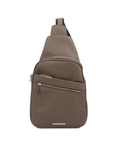 Tuscany Leather ALBERT Soft leather crossover bag Dark Taupe - TL142022/97