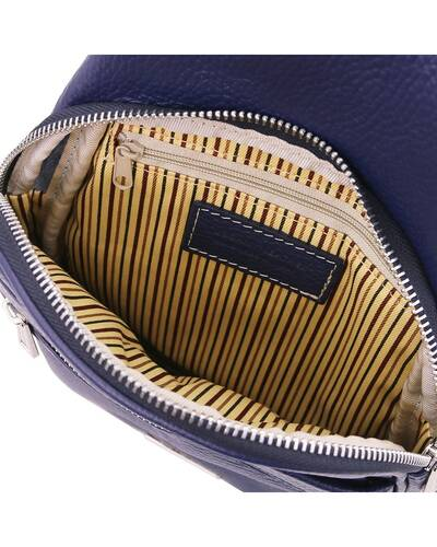 Tuscany Leather ALBERT Soft leather crossover bag Dark Blue - TL142022/107
