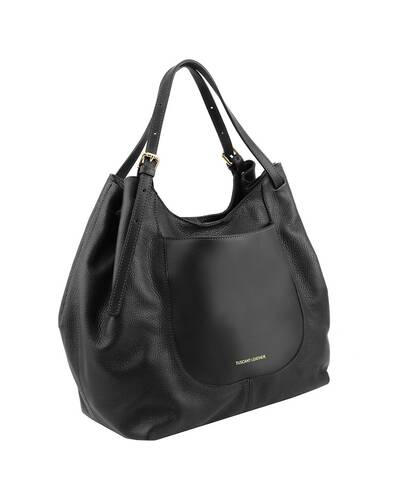 Tuscany Leather Cinzia Soft leather shopping bag Black - TL141515/2