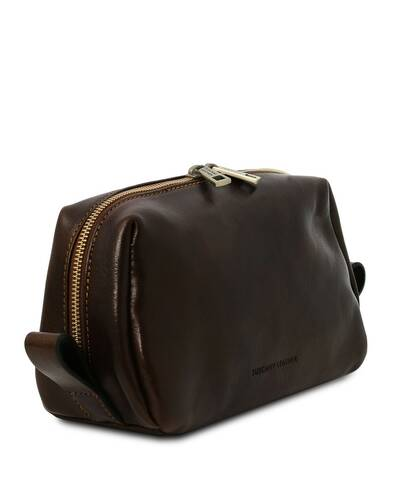 Tuscany Leather Owen - Leather toilet bag Dark Brown - TL142025/5