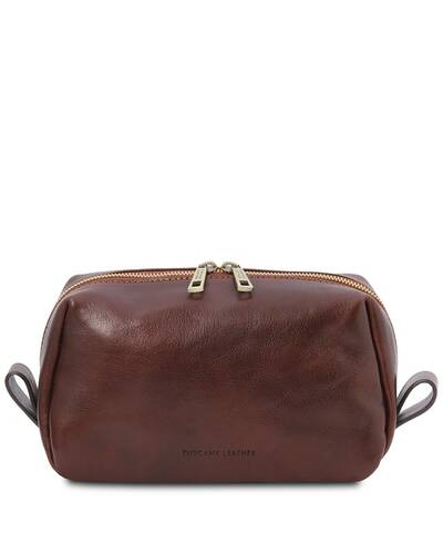 Tuscany Leather Owen - Leather toilet bag Brown - TL142025/1
