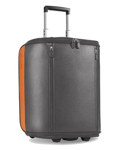 """Fedon 1919 - Marco Polo - Cabin trolley with 13"""" laptop compartment, Grey - MT2010001/GR"""