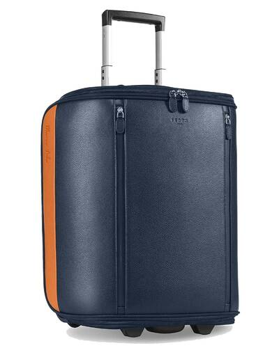 """Fedon 1919 - Marco Polo - Cabin trolley with 13"""" laptop compartment, Blue - MT2010001/BLU"""