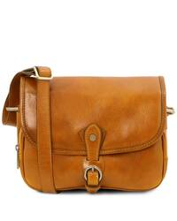 Tuscany Leather Alessia - Leather shoulder bag Yellow - TL142020/25