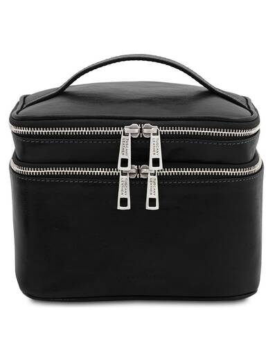 Tuscany Leather Eliot - Beauty case in pelle Nero - TL142045/2