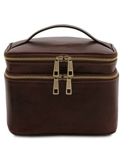 Tuscany Leather Eliot - Beauty case in pelle Testa di Moro - TL142045/5