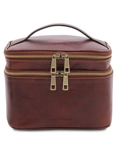 Tuscany Leather Eliot - Leather toilet bag Brown - TL142045/1