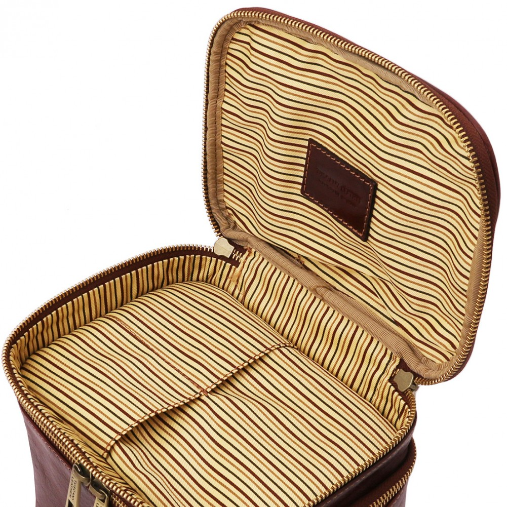 Tuscany Leather Eliot - Beauty case in pelle Miele - TL142045/3