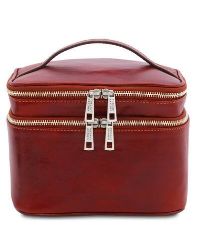 Tuscany Leather Eliot - Leather toilet bag Red - TL142045/4