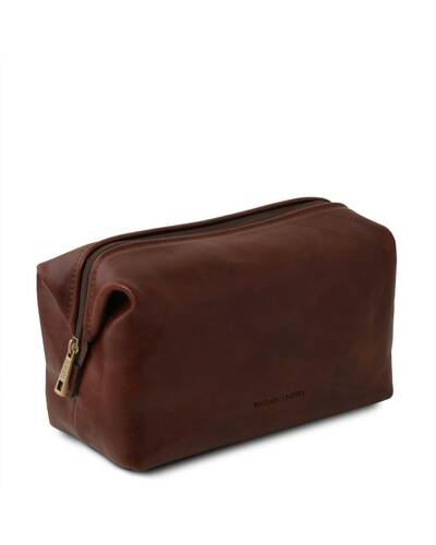 Tuscany Leather - Smarty - Leather toilet bag - Small size Brown - TL141220/1
