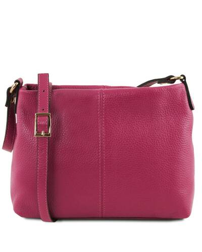 Tuscany Leather TLBag Borsa a tracolla in pelle morbida Fucsia - TL141720/75