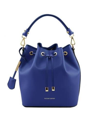 Tuscany Leather Vittoria Leather secchiello bag Blue - TL141531/77