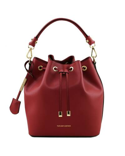 Tuscany Leather Vittoria Leather secchiello bag Red - TL141531/4