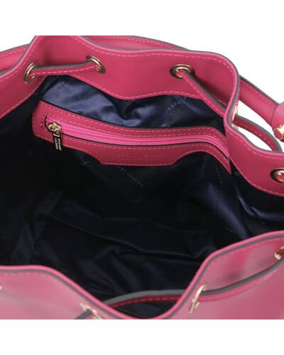 Tuscany Leather Vittoria Leather secchiello bag Fucsia - TL141531/75