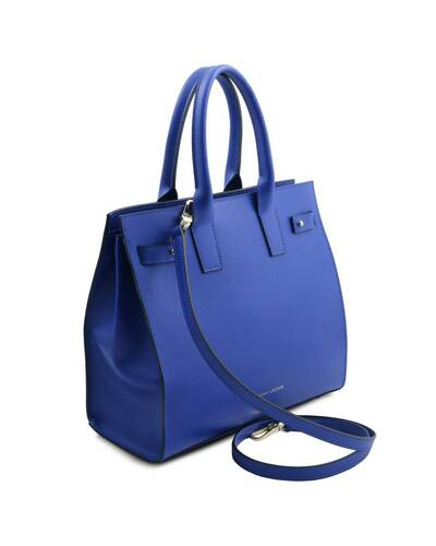 Tuscany Leather Catherine - Borsa a mano in pelle Blu - TL141933/77