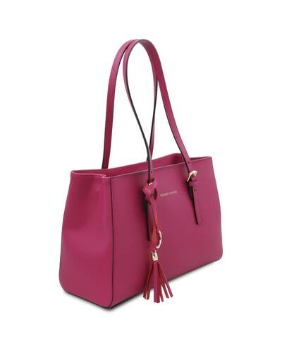 Tuscany Leather TL Bag Borsa a spalla in pelle Fucsia - TL142037/75
