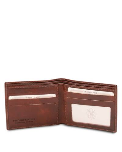 Tuscany Leather Exclusive 2 fold leather wallet for men Brown - TL142056/1