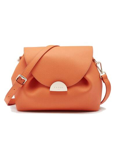 Fedon 1919 - Miranda - Shoulder bag for woman, Orange - WB2010005/AR
